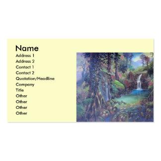 Arte de las cascadas del río del paisaje de la sel tarjetas personales