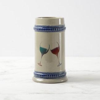 Arte de las copas de vino de la chispa que tintine jarra de cerveza