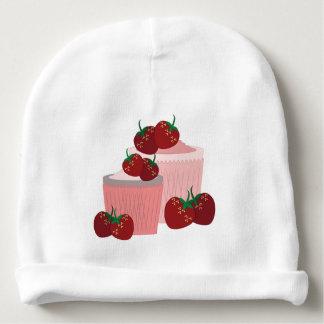 Arte de las fresas y de las magdalenas gorrito para bebe