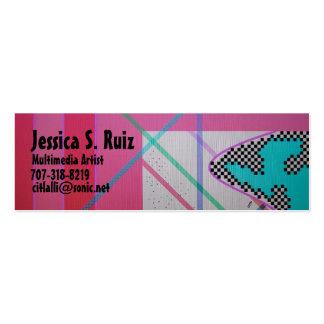 Arte de las multimedias tarjetas de visita mini