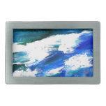 Arte de las olas oceánicas de la canción de la lun hebilla de cinturón