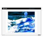 Arte de las olas oceánicas de la canción de la lun 38,1cm portátil calcomanía
