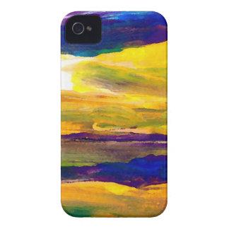 Arte de las olas oceánicas del paisaje marino de Case-Mate iPhone 4 protector