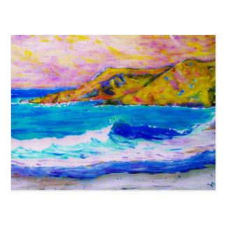 arte de las ondas que truena postal