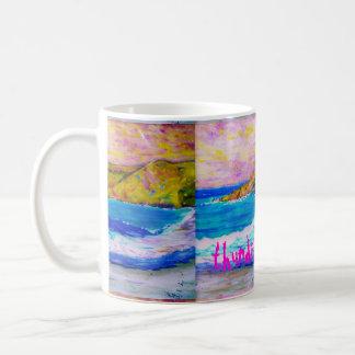 arte de las ondas que truena tazas de café
