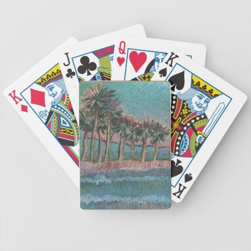 arte de las palmeras y del océano de los naipes po barajas de cartas