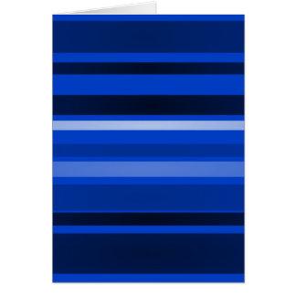 Arte de las rayas azul marino tarjeta de felicitación
