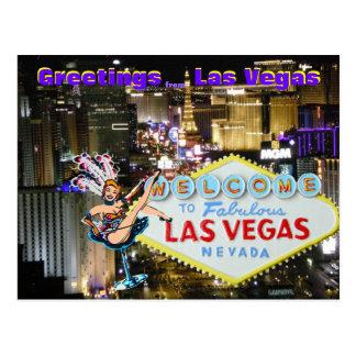 Arte de Las Vegas Boulevard y del corista Postales