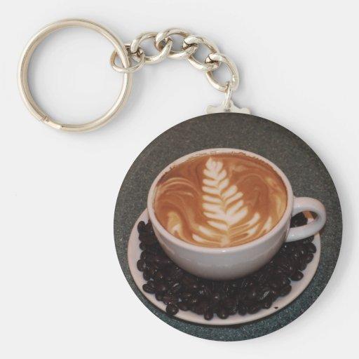 Arte de Latte Llavero Redondo Tipo Pin