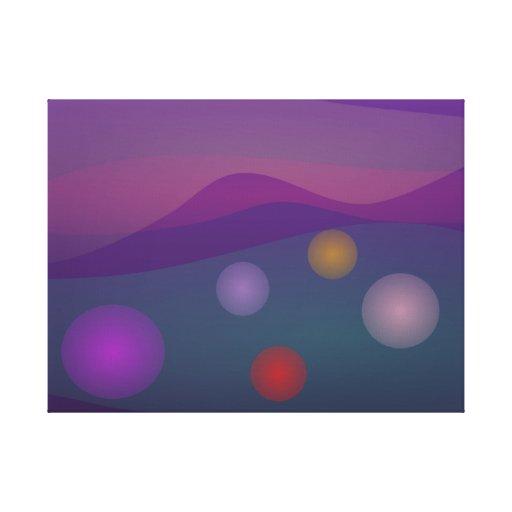 Arte de levantamiento de las burbujas lienzo envuelto para galerias