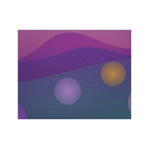 Arte de levantamiento de las burbujas impresiones en lienzo estiradas