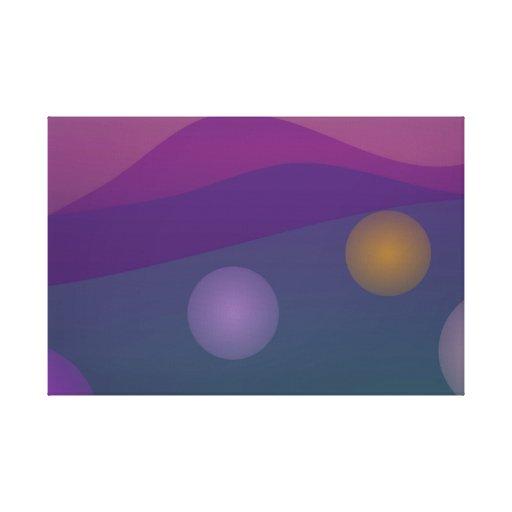 Arte de levantamiento de las burbujas lona estirada galerias