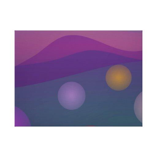 Arte de levantamiento de las burbujas lienzo envuelto para galerías
