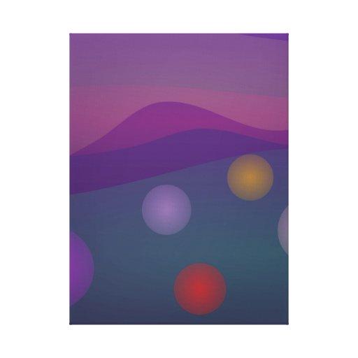 Arte de levantamiento de las burbujas lona envuelta para galerias