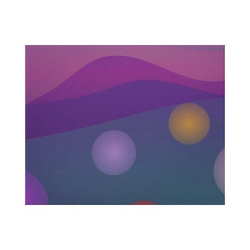 Arte de levantamiento de las burbujas impresión en lienzo estirada