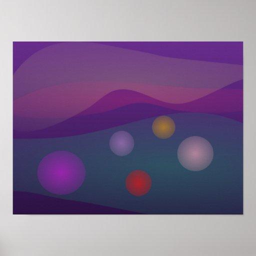 Arte de levantamiento de las burbujas poster