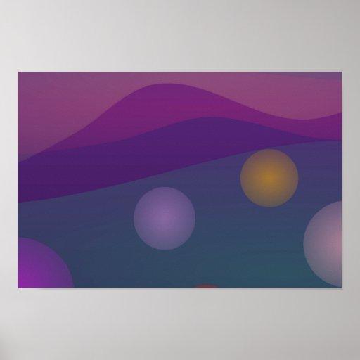 Arte de levantamiento de las burbujas impresiones
