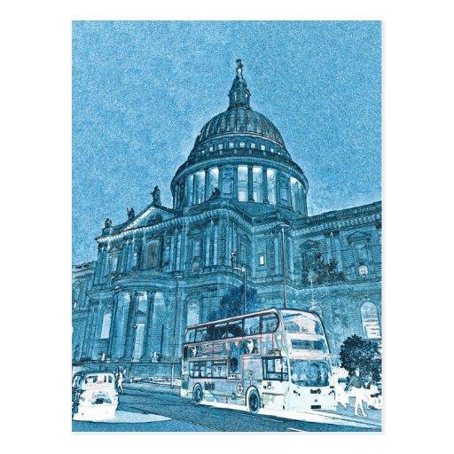Arte de Londres de la catedral de San Pablo Postales