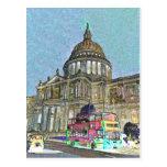 Arte de Londres de la catedral de San Pablo Tarjetas Postales