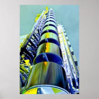 Arte de Londres del edificio de Lloyd Posters