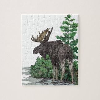 Arte de los alces de Bull Puzzles Con Fotos