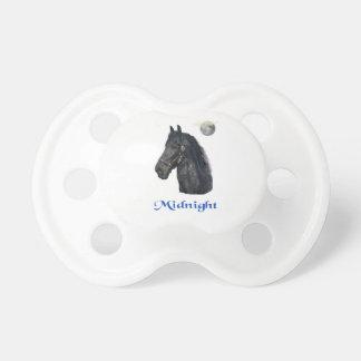 Arte de los amantes del caballo chupete de bebé