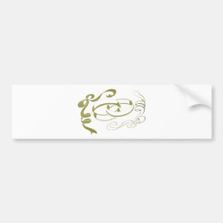 Arte de los anillos de bodas y de los arcos pegatina para auto