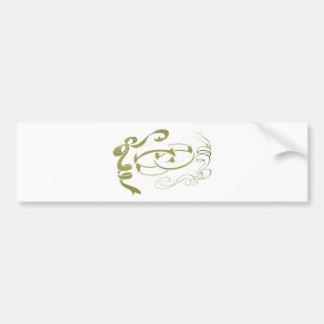 Arte de los anillos y de los arcos de oro pegatina para auto
