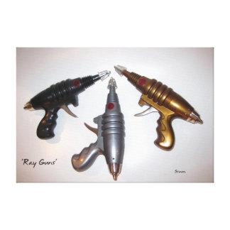 Arte de los armas de rayo en lona impresión en lienzo estirada