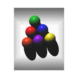arte de los billares 6-Ball Impresion En Lona