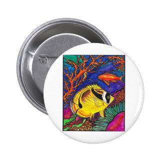 Arte de los Butterflyfish y del Seahorse del mapac Pins