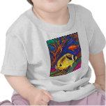 Arte de los Butterflyfish y del Seahorse del Camiseta