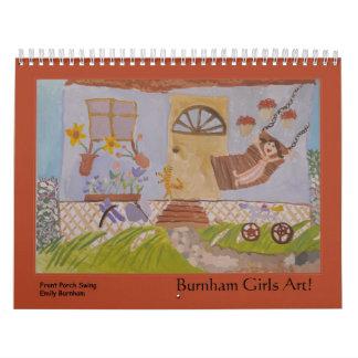 ¡Arte de los chicas de Burnham! Calendario