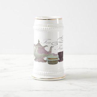 Arte de los corazones de la magdalena del rosa del jarra de cerveza