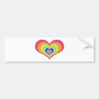 Arte de los corazones del arco iris pegatina para auto