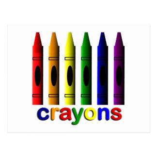 Arte de los creyones para la postal de los niños