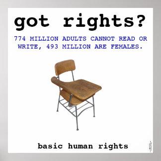 Arte de los derechos humanos póster