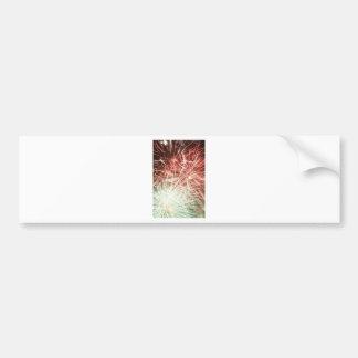 Arte de los fuegos artificiales pegatina de parachoque