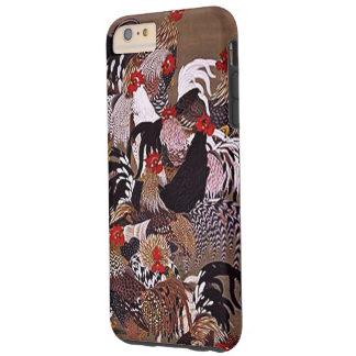 Arte de los gallos del vintage funda de iPhone 6 plus tough