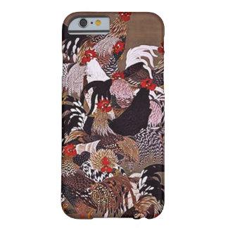 Arte de los gallos del vintage funda de iPhone 6 barely there