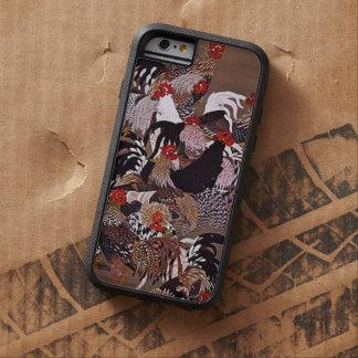 Arte de los gallos del vintage funda de iPhone 6 tough xtreme