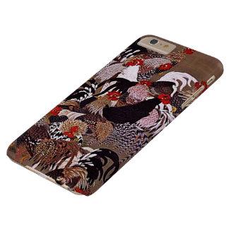 Arte de los gallos del vintage funda de iPhone 6 plus barely there
