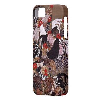 Arte de los gallos del vintage iPhone 5 cobertura