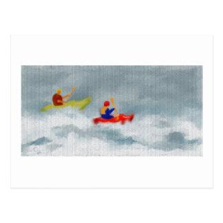 Arte de los kajaks postales