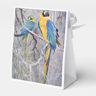 Arte de los Macaws del azul y del oro Caja De Regalos
