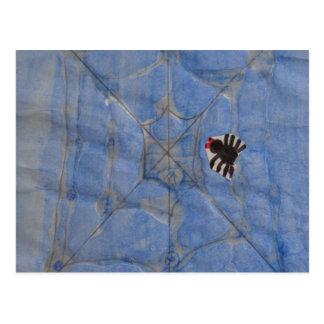 Arte de los niños, araña tarjeta postal