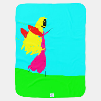 Arte de los niños, hada rubia negra, manta del mantita para bebé