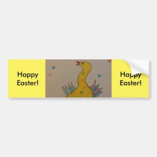 Arte de los niños, pato del #ABC de Pascua Pegatina Para Coche