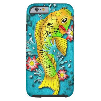 Arte de los pescados de Koi Funda Para iPhone 6 Tough