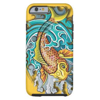 Arte de los pescados de Koi Funda De iPhone 6 Tough